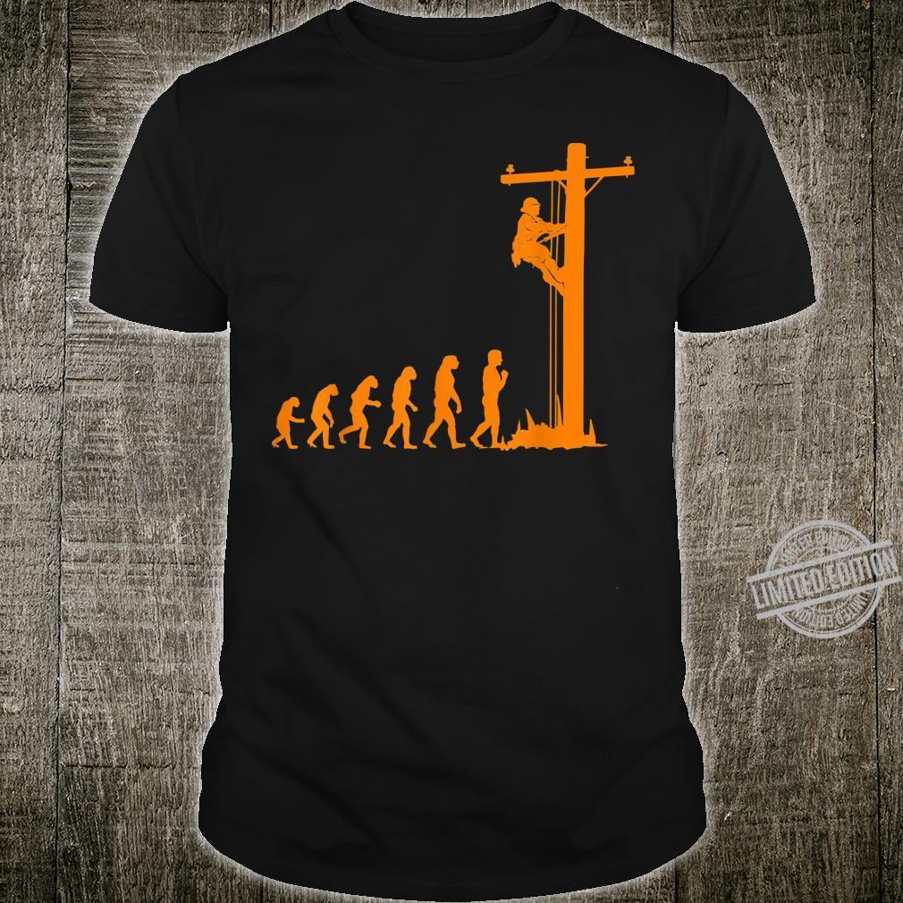 Cool Unique Evolution Of Lineman Electrician Shirt