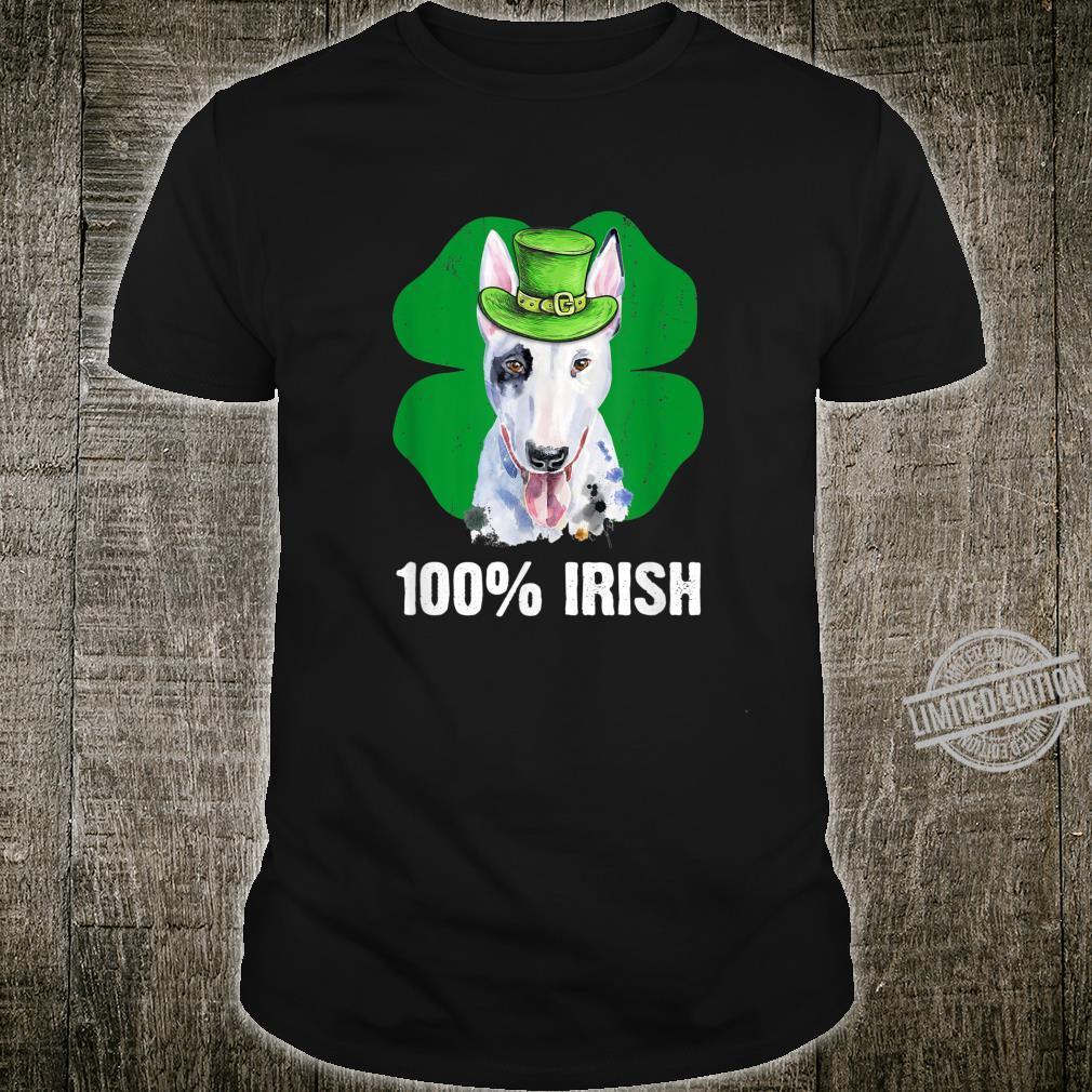 Cute Leprechaun Bull Terrier Dog 100% Irish St Patricks Day Shirt