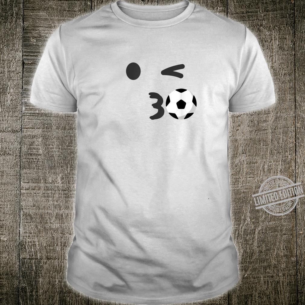 Cute Soccer Emoji Kiss Face Gold School Game Team Shirt