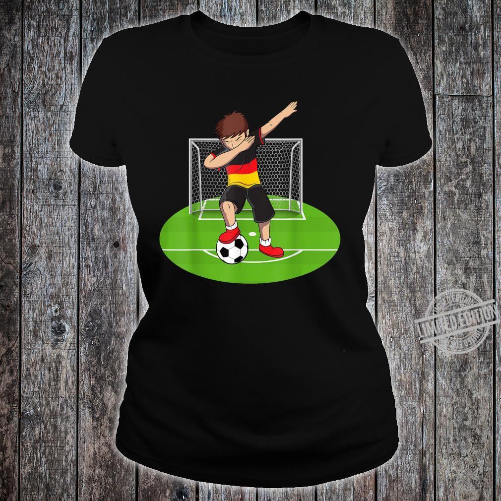 Dabbing Soccer Boy Germany German Football Boys Shirt ladies tee