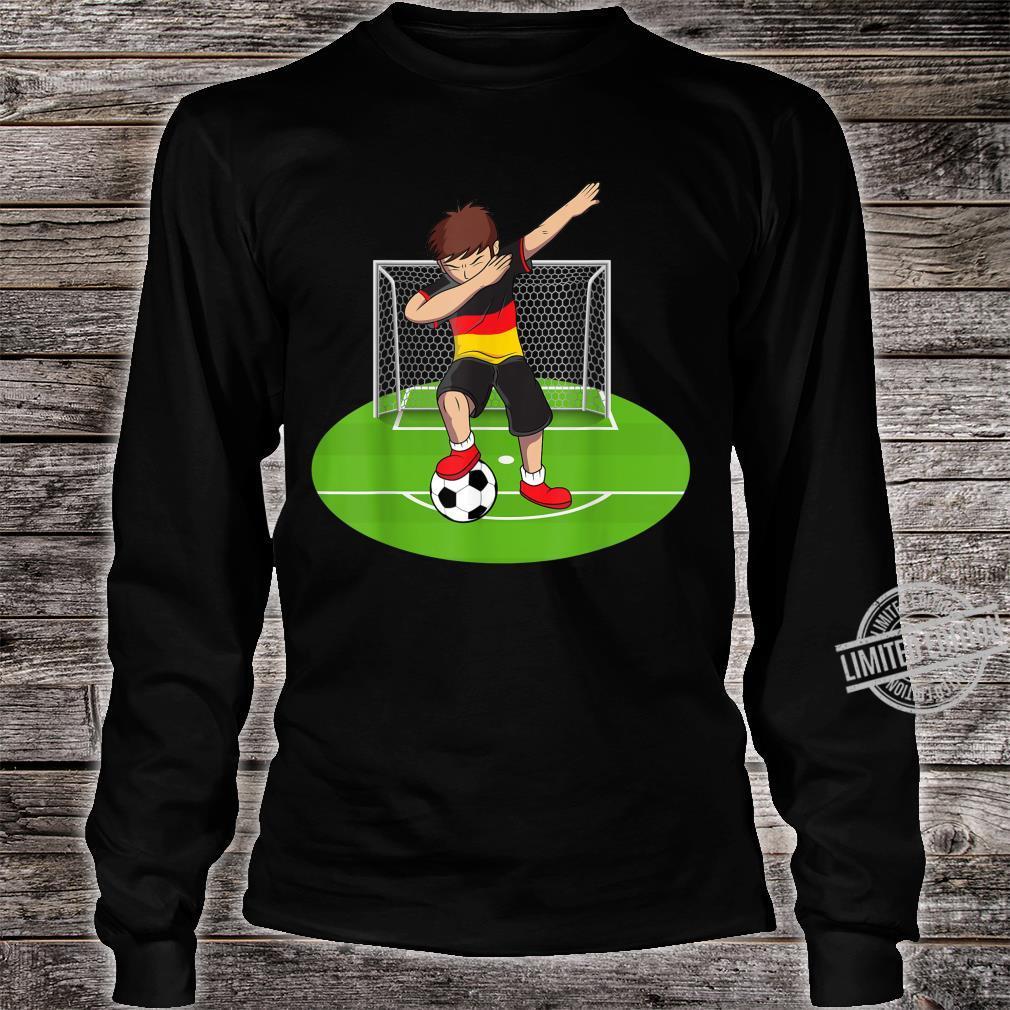 Dabbing Soccer Boy Germany German Football Boys Shirt long sleeved