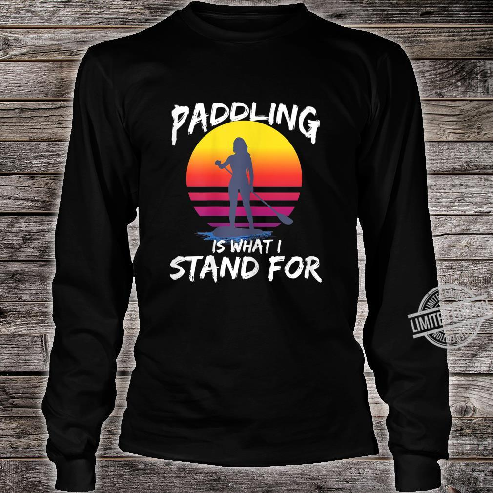 Damen SUP Stand Up Paddling Stehpaddeln Paddle Geschenk Shirt long sleeved