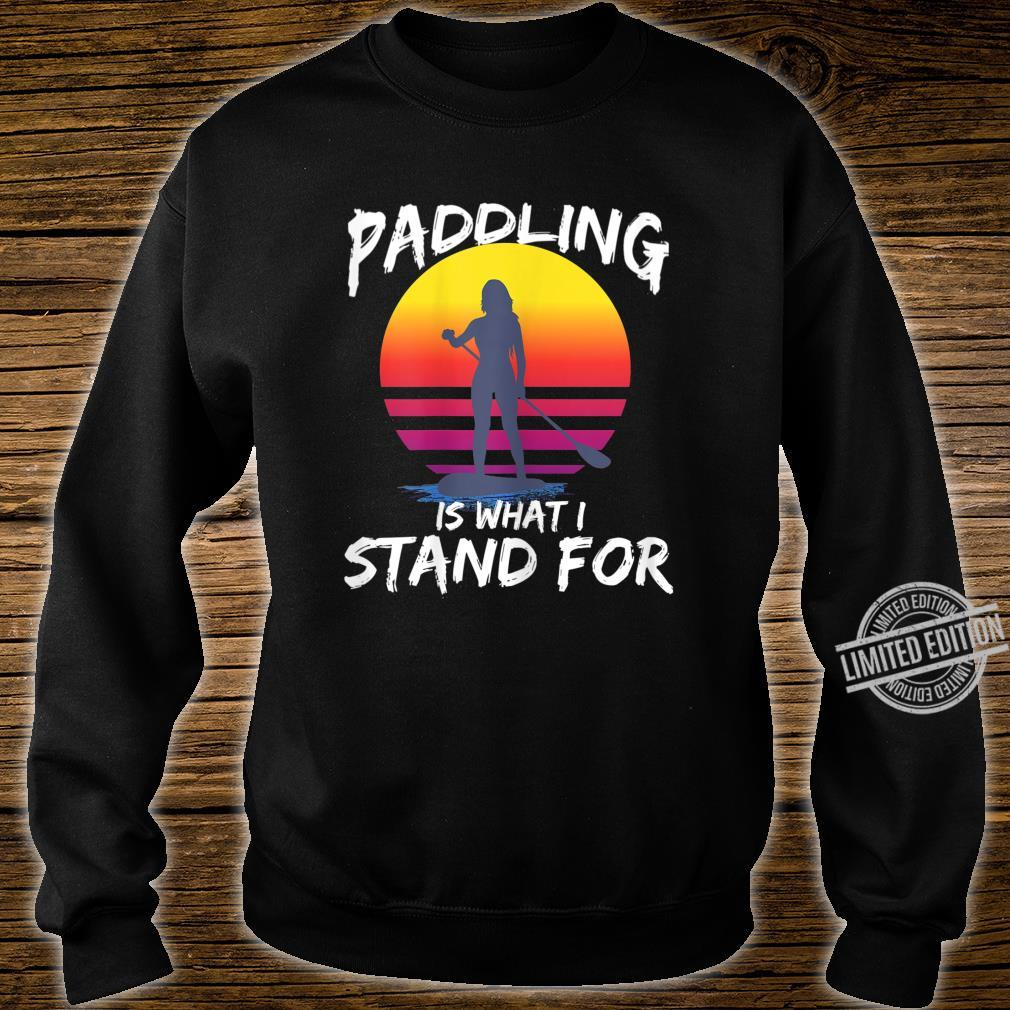Damen SUP Stand Up Paddling Stehpaddeln Paddle Geschenk Shirt sweater