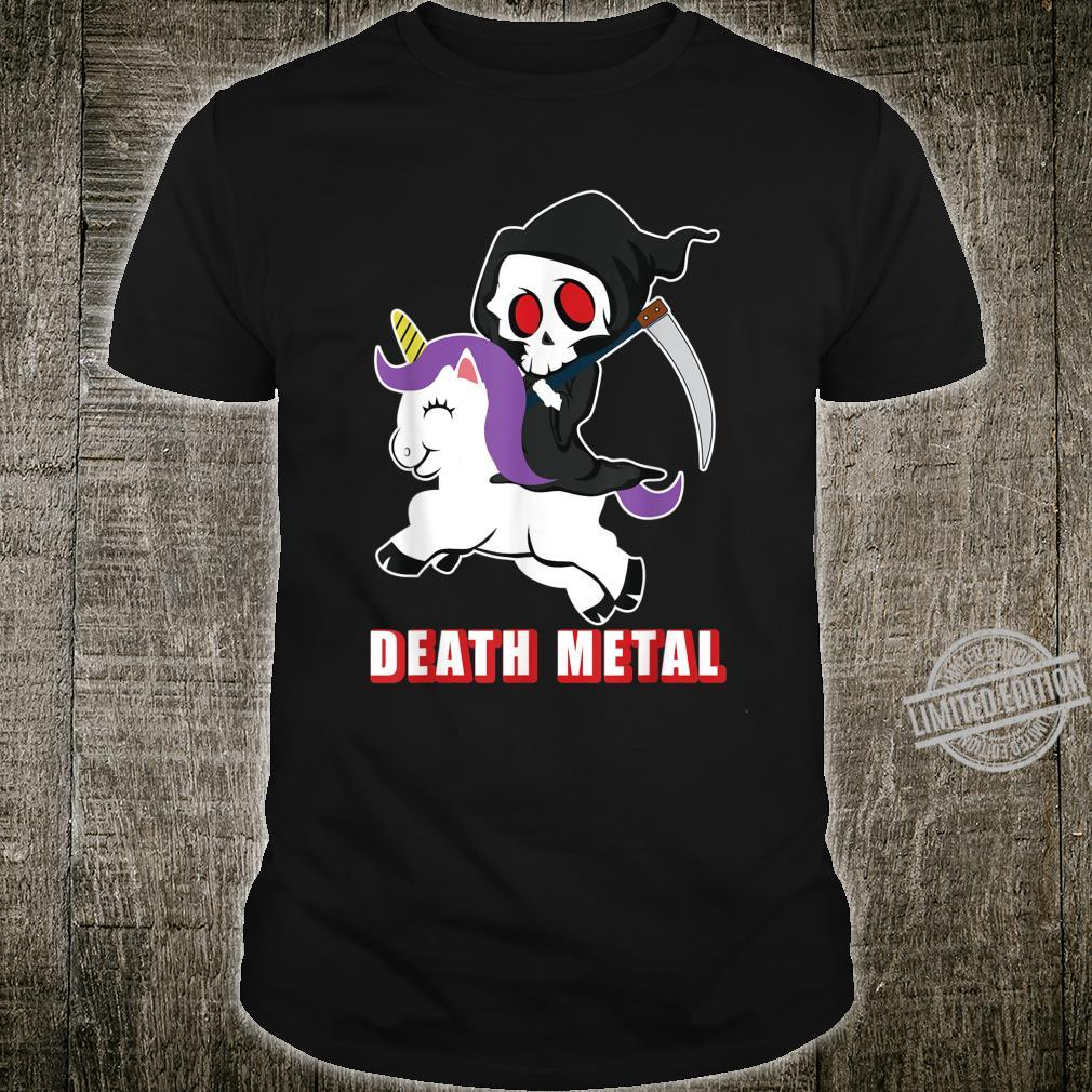 Death Metal Unicorn Reaper And Unicorn Fan Shirt