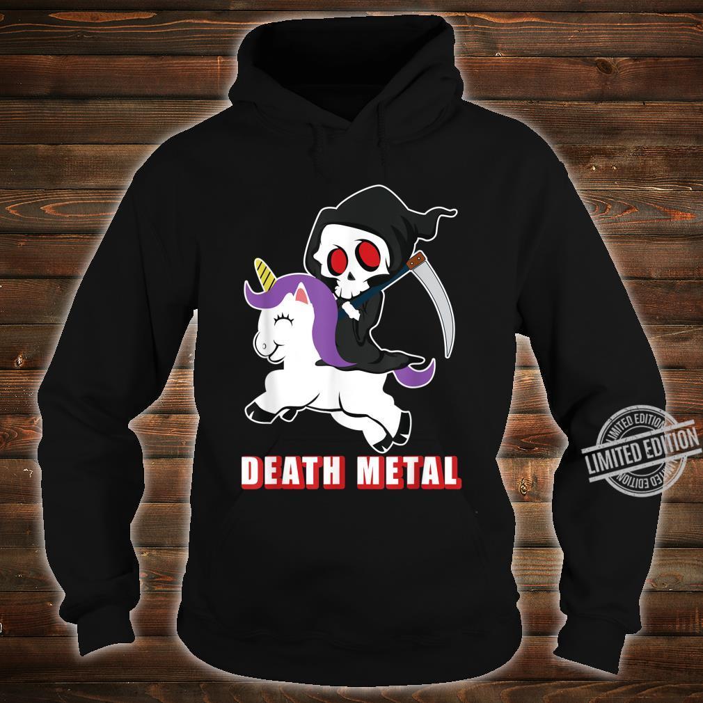 Death Metal Unicorn Reaper And Unicorn Fan Shirt hoodie