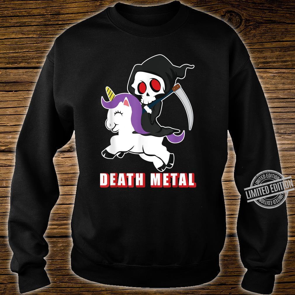 Death Metal Unicorn Reaper And Unicorn Fan Shirt sweater