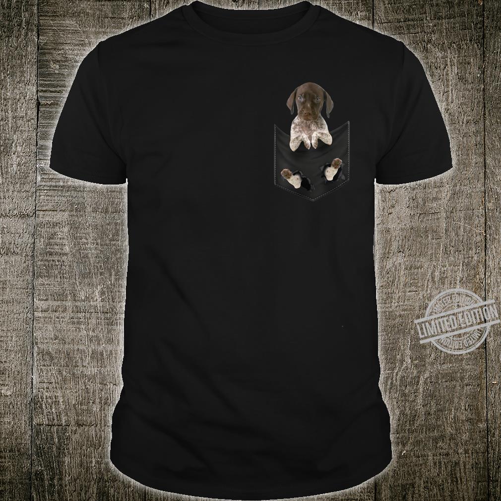 Deutscher kurzhaariger Zeiger in der Tasche Hundeliebhaber Shirt