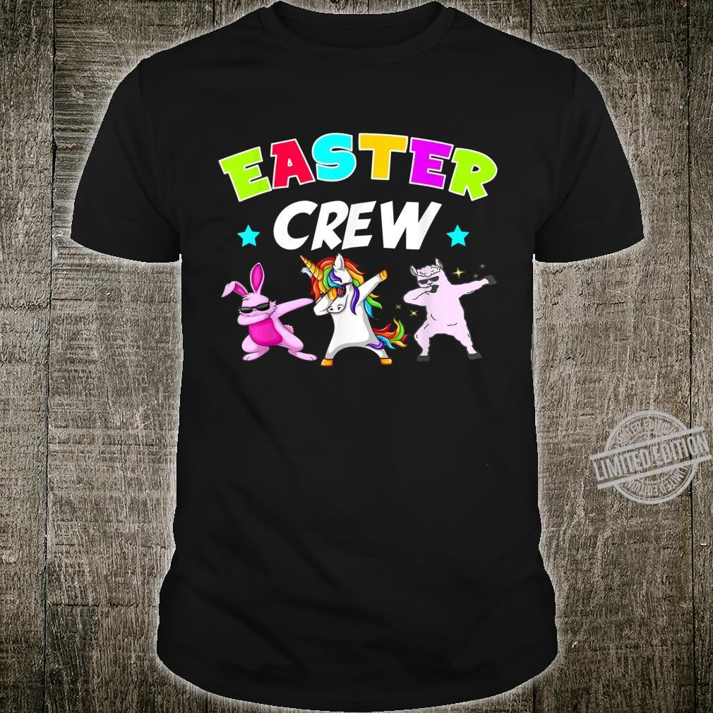 Easter Crew Dabbing Bunny Unicorn Llama Shirt
