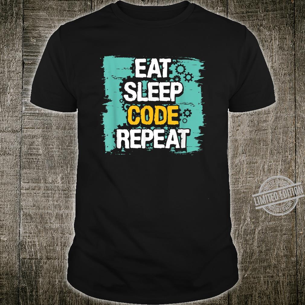 Eat, Sleep, Code Repeat Programmer Coding Shirt