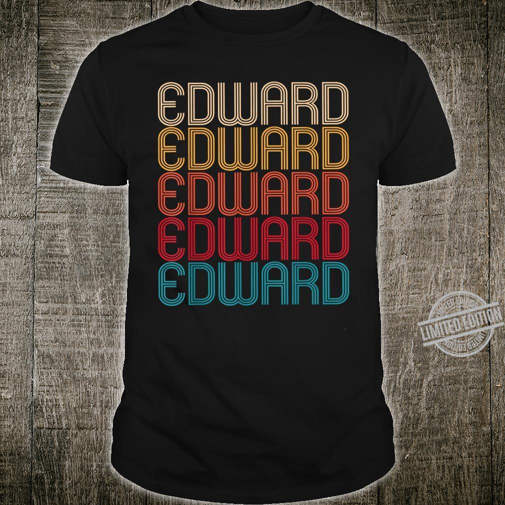 Edward Retro Vintage Style Name Shirt
