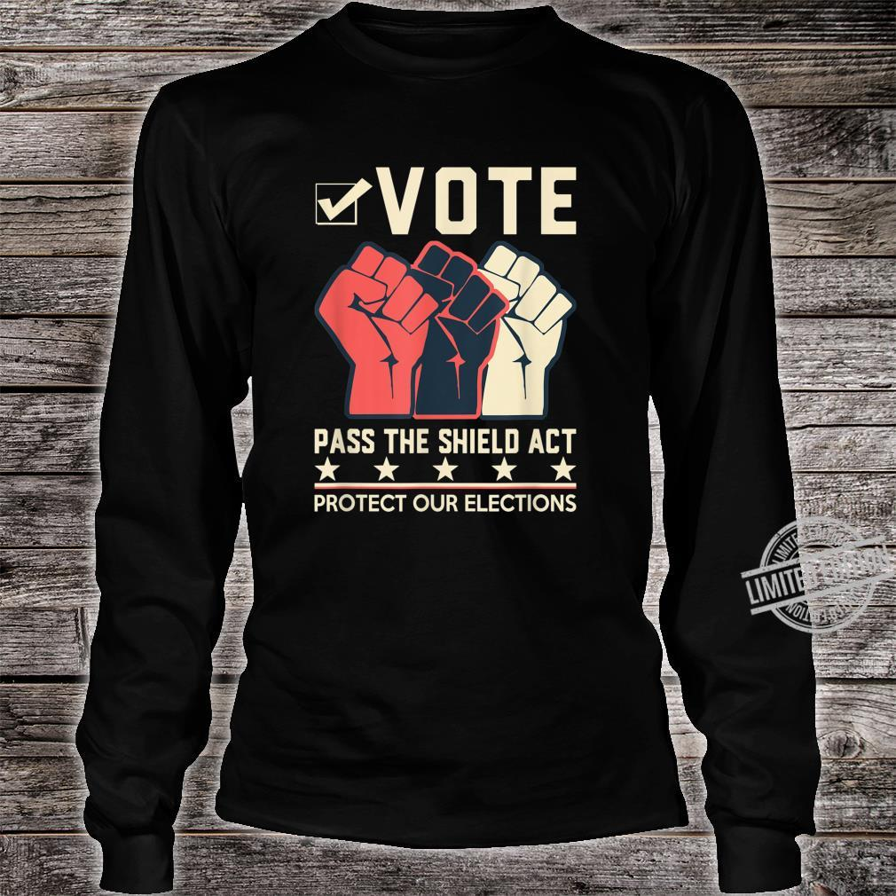 Election Security Now Pass the Shield Act Shirt long sleeved