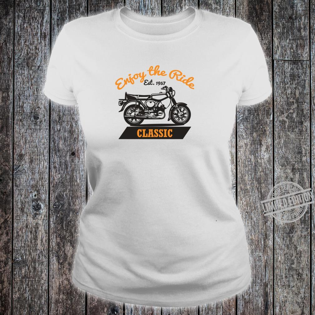 Enjoy The Ride S51 Moped Oldtimer SimsonS51 Shirt ladies tee