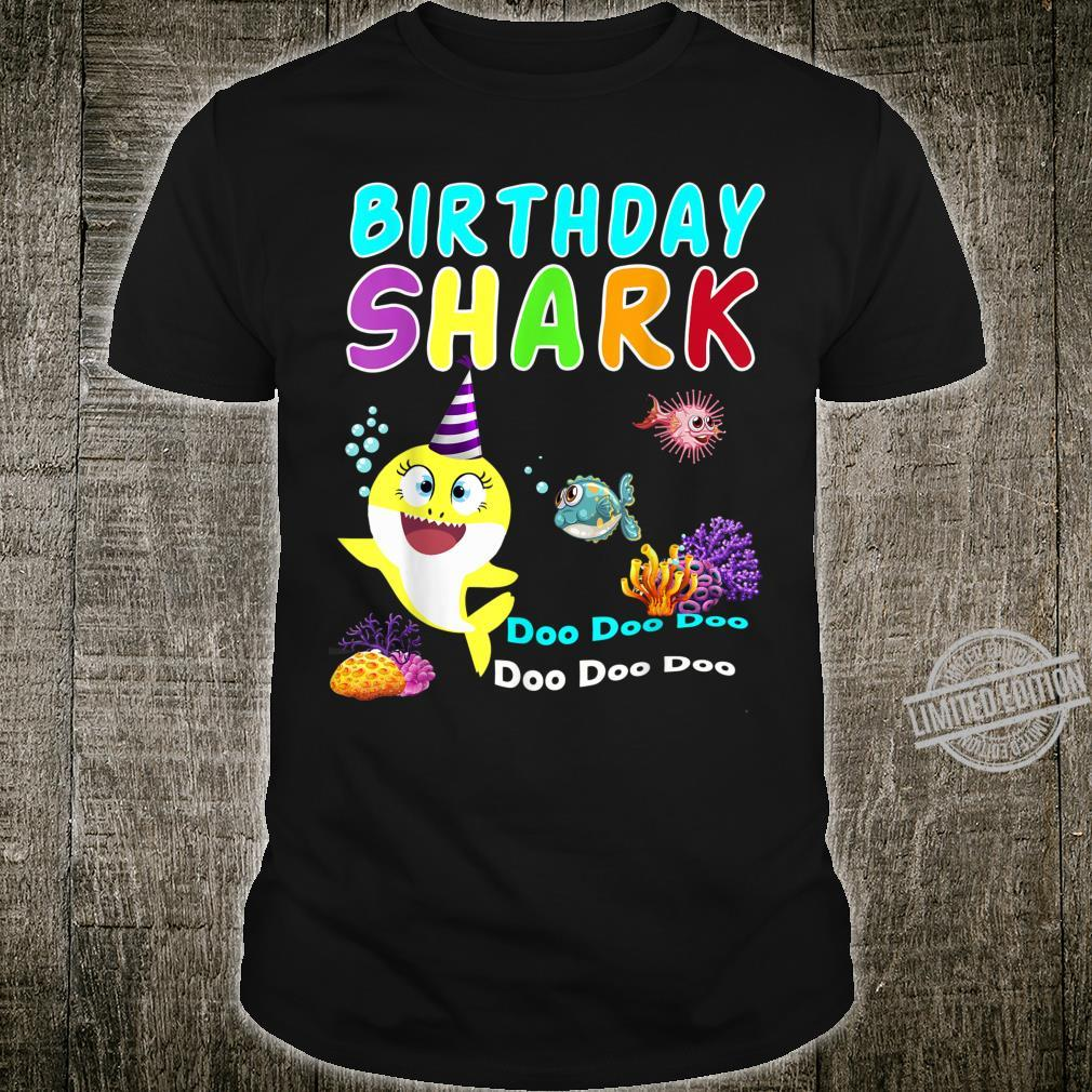Family Baby Shark Birthday Doo Doo Doo Aquatic World Shirt