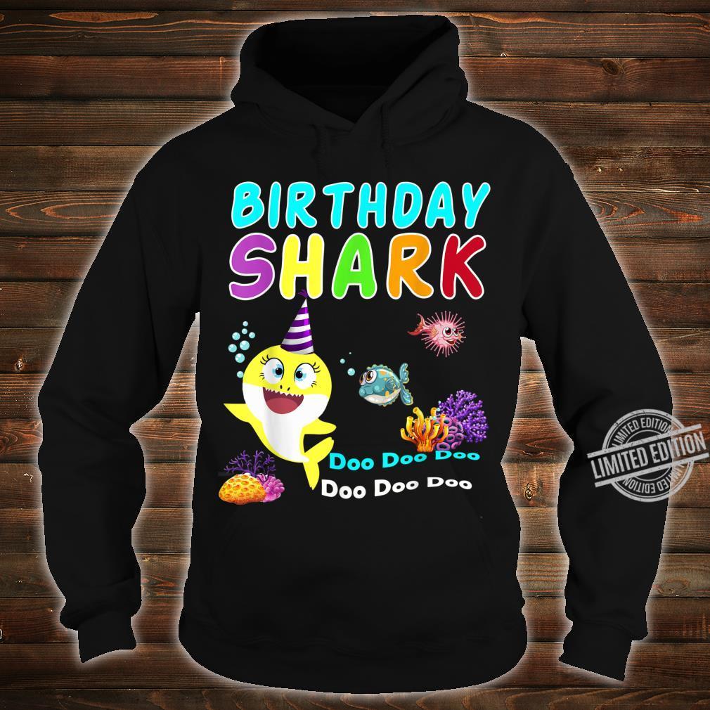 Family Baby Shark Birthday Doo Doo Doo Aquatic World Shirt hoodie
