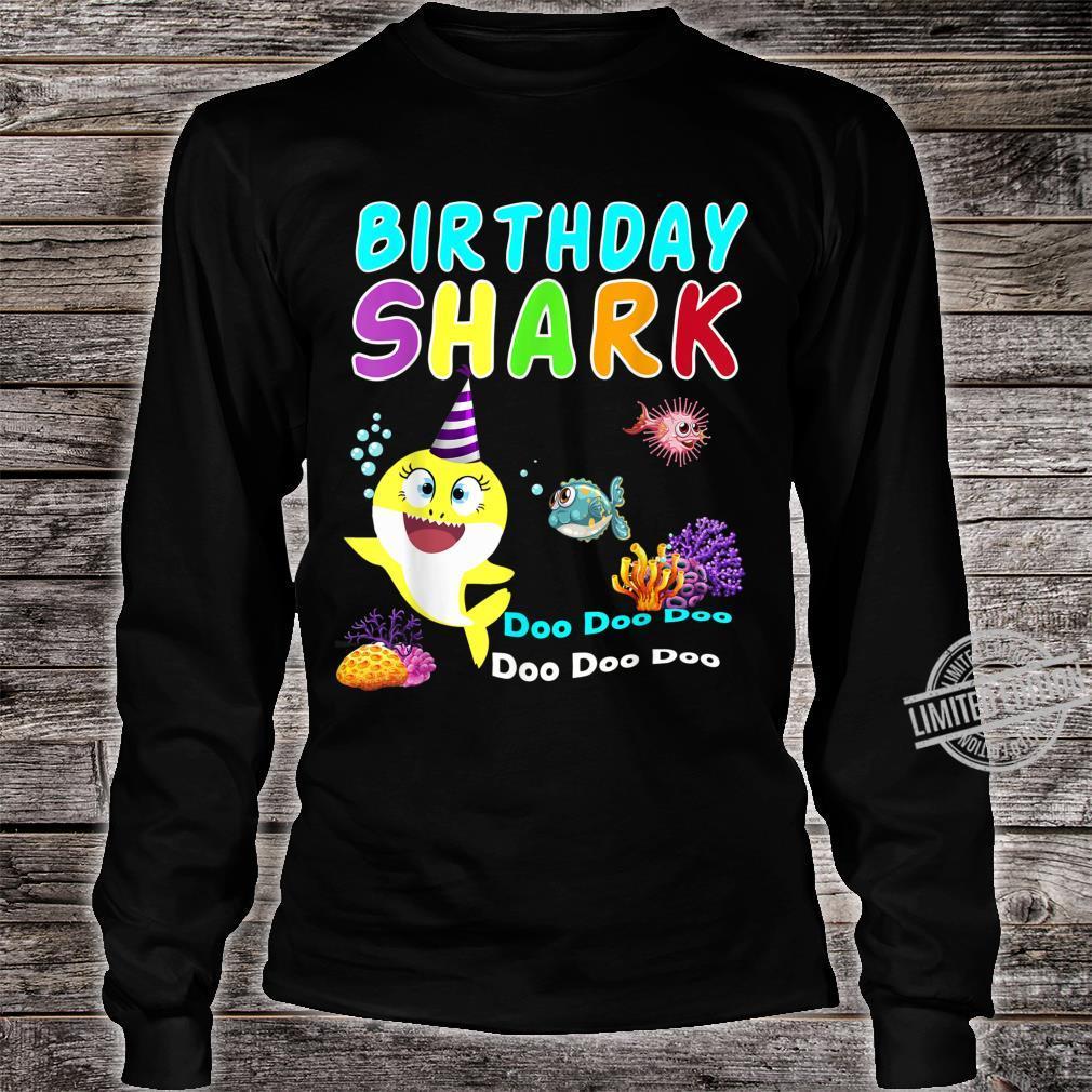 Family Baby Shark Birthday Doo Doo Doo Aquatic World Shirt long sleeved