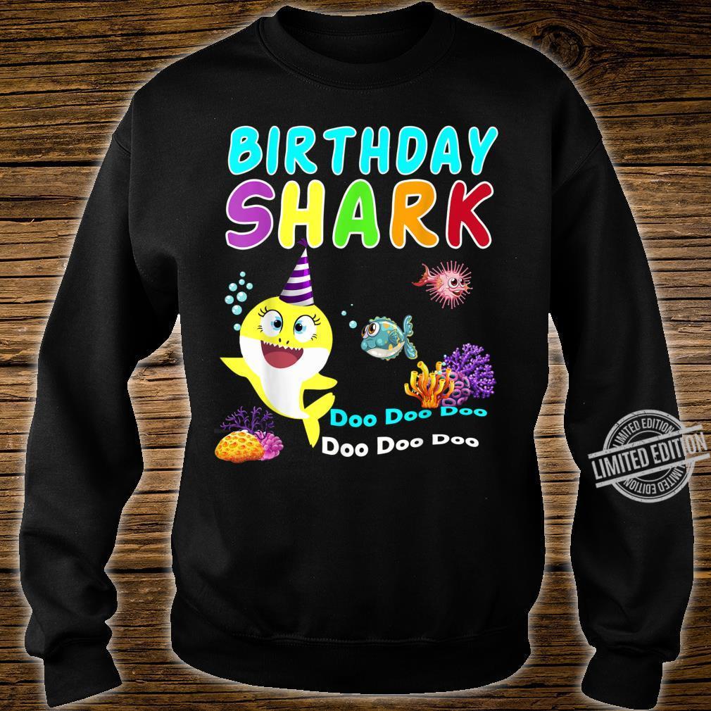 Family Baby Shark Birthday Doo Doo Doo Aquatic World Shirt sweater