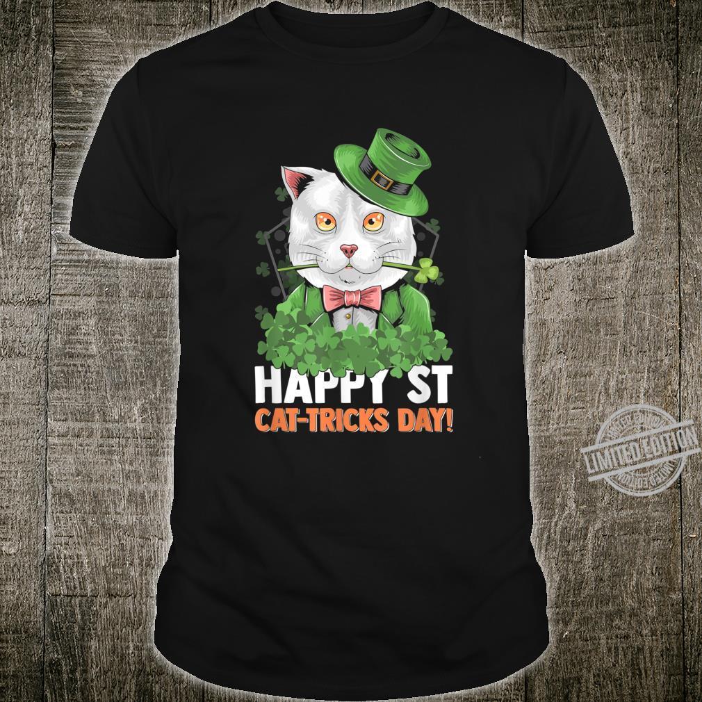 Funny Happy St CatTricks Day St Patrick Shirt