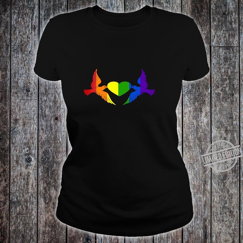 Gay Pride CSD, LGBT Queer, Freiheit, Liebe, Stolz, Toleranz Shirt ladies tee