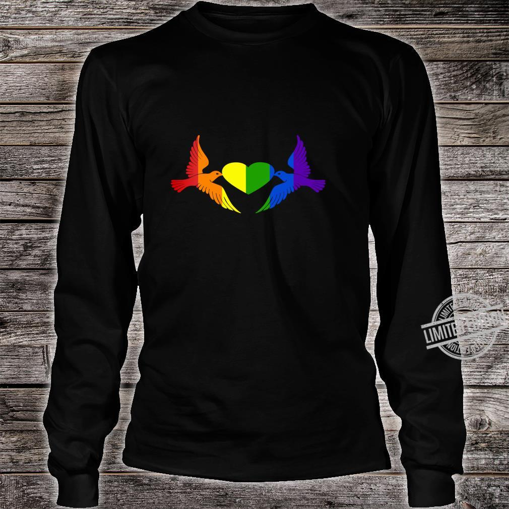 Gay Pride CSD, LGBT Queer, Freiheit, Liebe, Stolz, Toleranz Shirt long sleeved