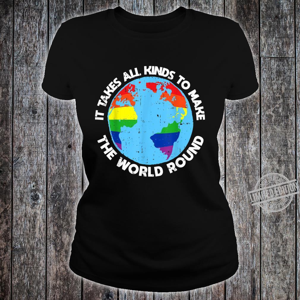 Gay Saying Rainbow Pride Flag LGBTQ Cool LGBT Ally Shirt ladies tee