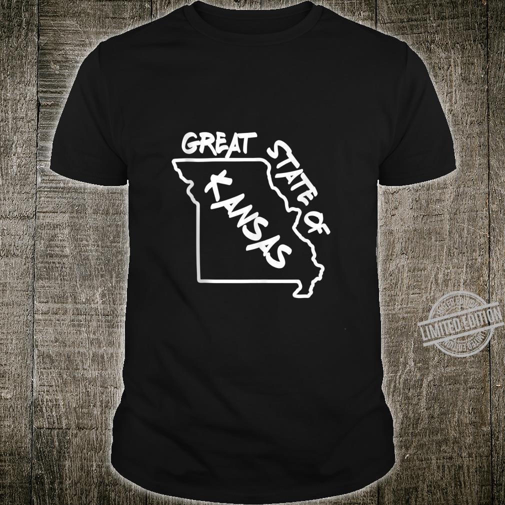 Great State of Kansas Missouri Marker Correction Meme Shirt