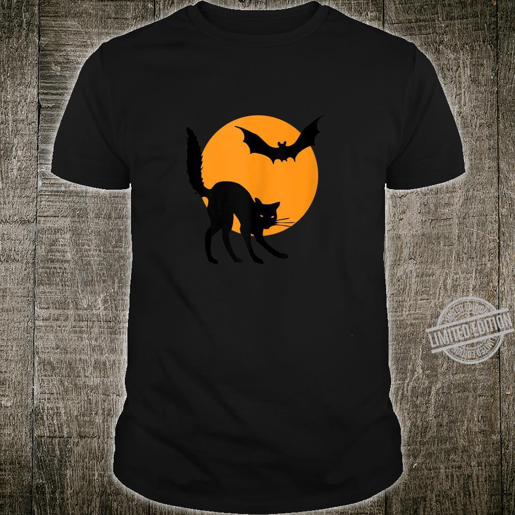 Halloween Designs Halloween Pumpkin Black Cat Shirt