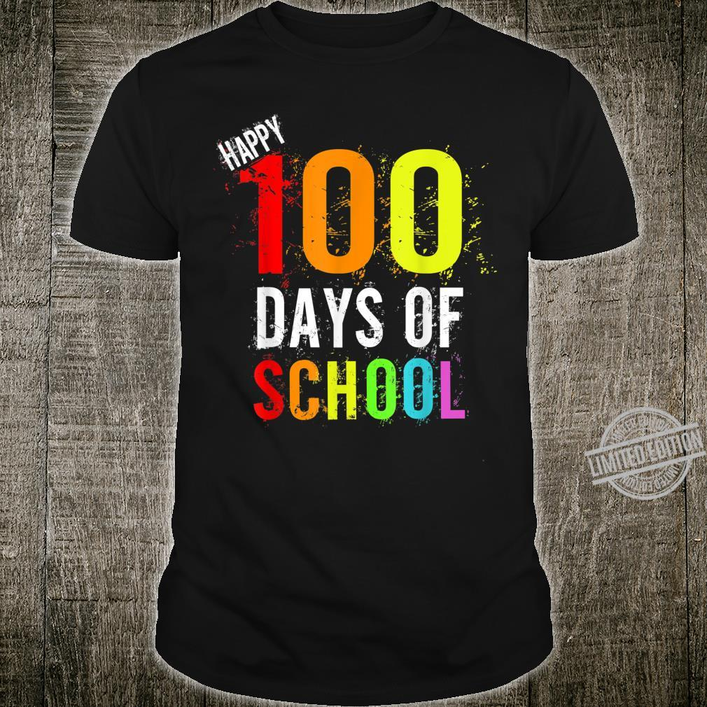 Happy 100 Days of School Paint Splatter Shirt