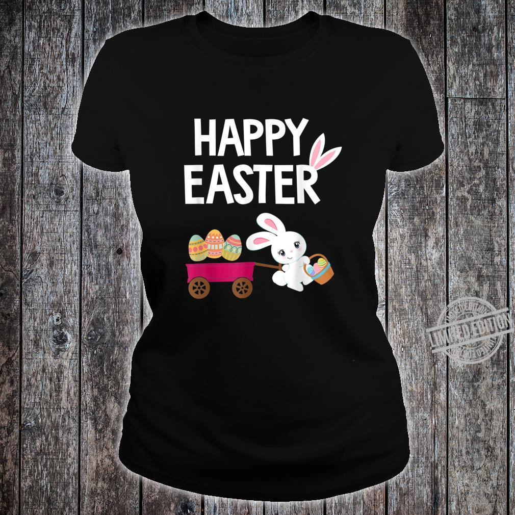 Happy Easter Bunny with Easter Eggs Shirt ladies tee