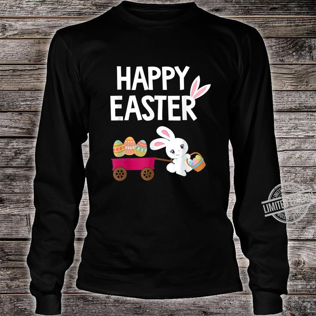 Happy Easter Bunny with Easter Eggs Shirt long sleeved