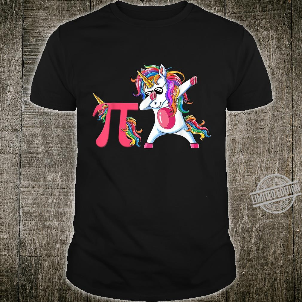 Happy Pi Day Unicorn Dabbing Math Teacher Student Shirt