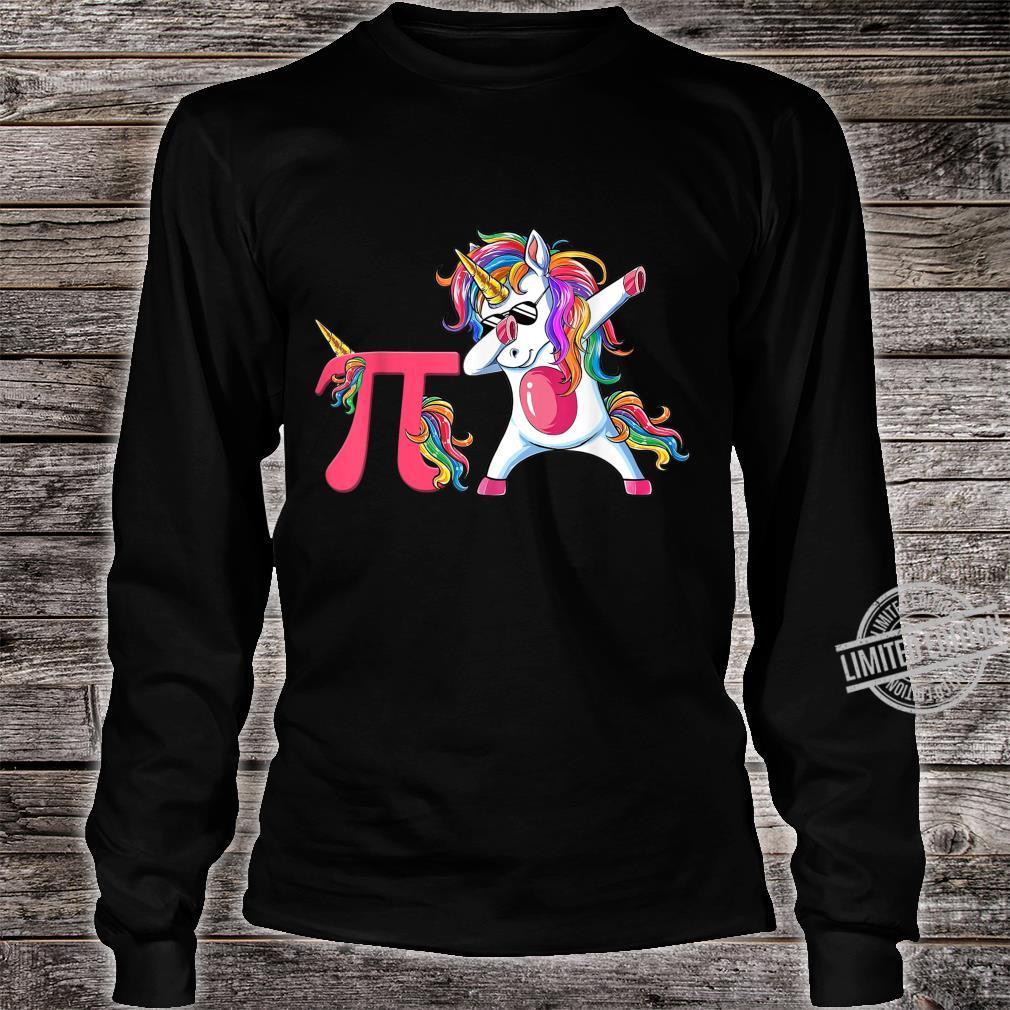 Happy Pi Day Unicorn Dabbing Math Teacher Student Shirt long sleeved