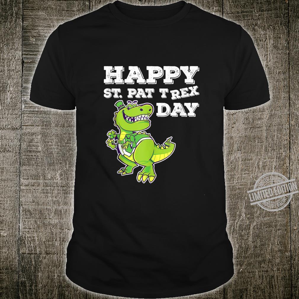 Happy St Pat TRex Day St Patricks Day Dinosaur Shirt