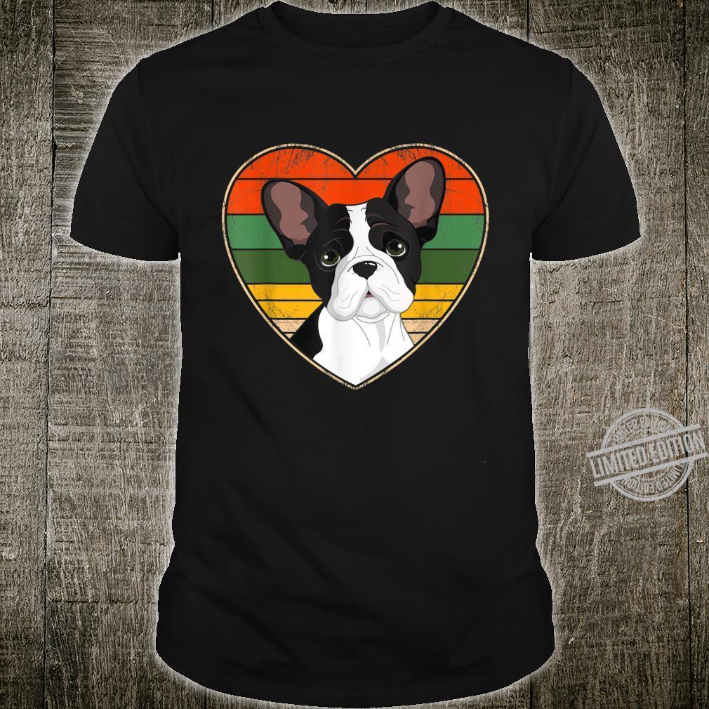 Heart French Bulldog Dog Mom Dad Valentine Father Day Shirt