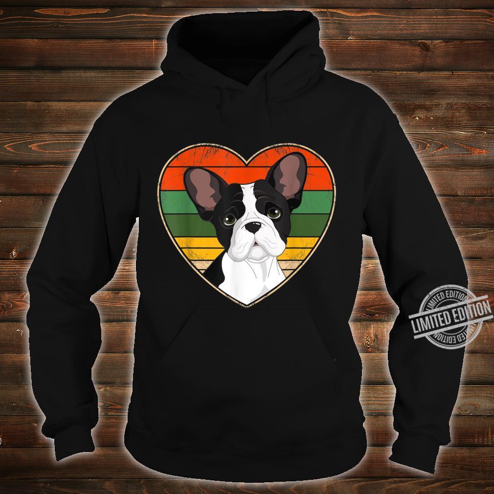Heart French Bulldog Dog Mom Dad Valentine Father Day Shirt hoodie