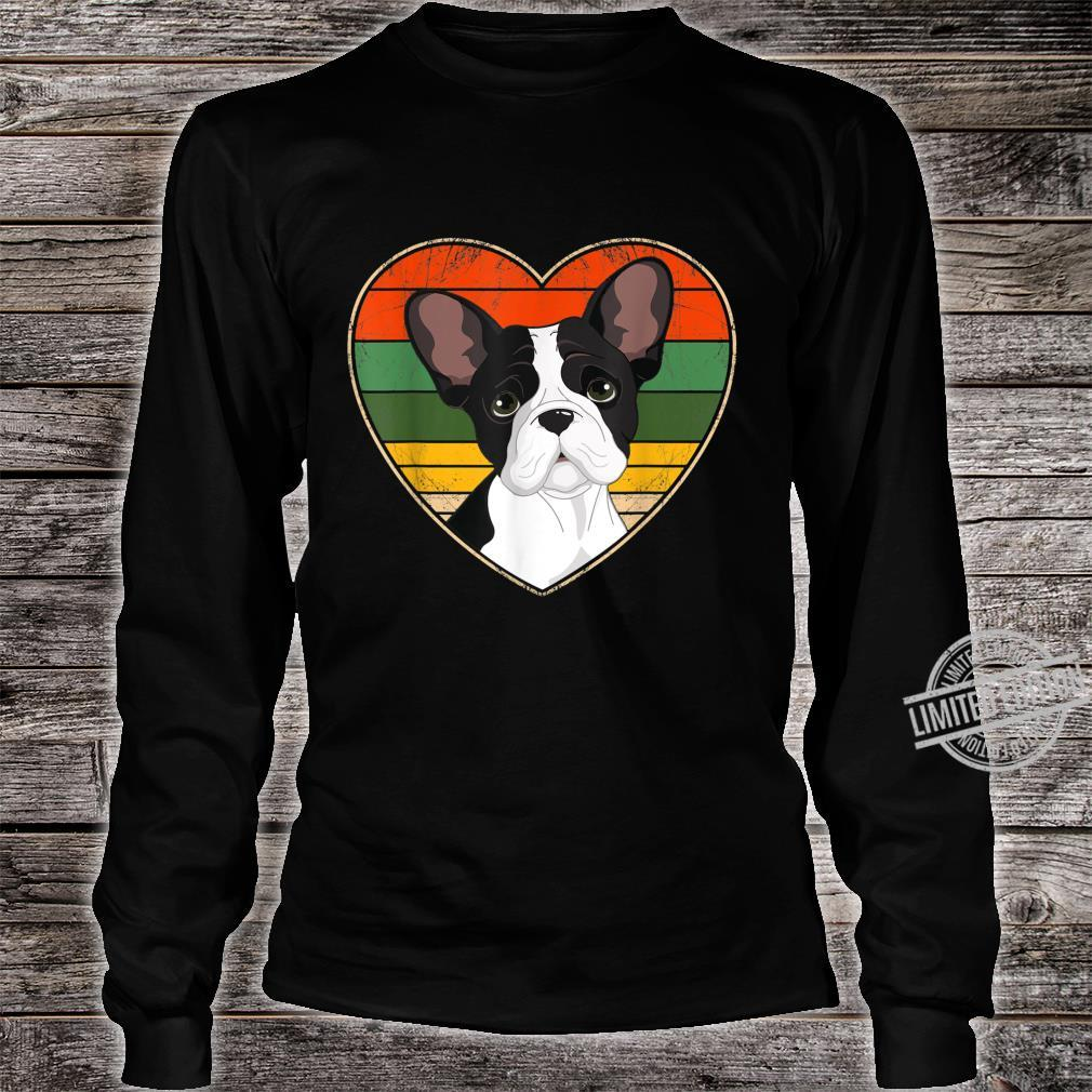 Heart French Bulldog Dog Mom Dad Valentine Father Day Shirt long sleeved
