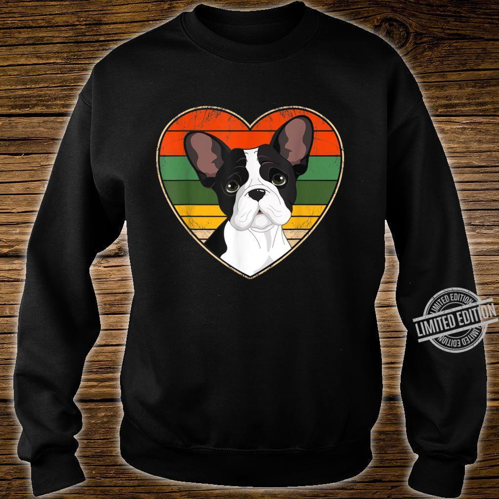 Heart French Bulldog Dog Mom Dad Valentine Father Day Shirt sweater
