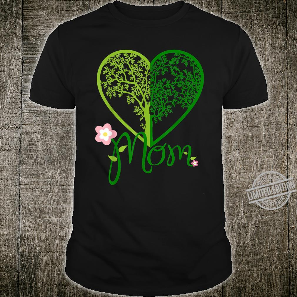 Heart Green Mother's Day Tree Colors Mom Vintage Shirt