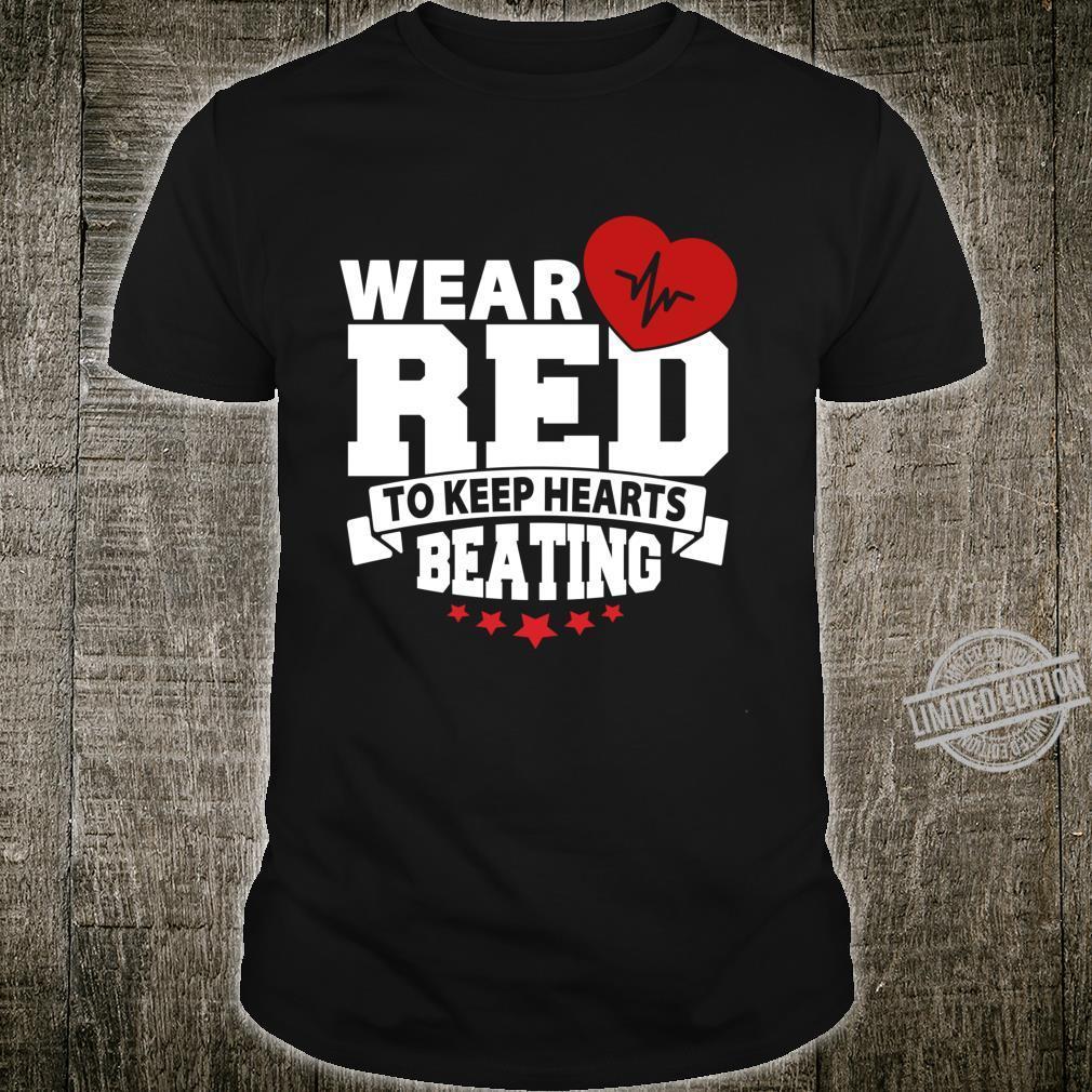 Heart Health Month Wear Red Heart Disease Awareness Shirt