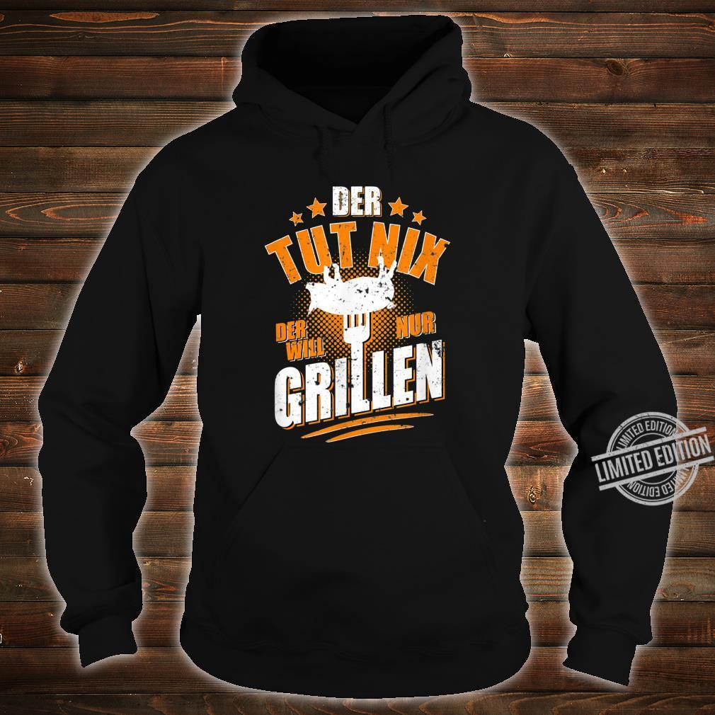Herren Der tut nix der will nur Grillen Grillmeister BBQ Shirt hoodie