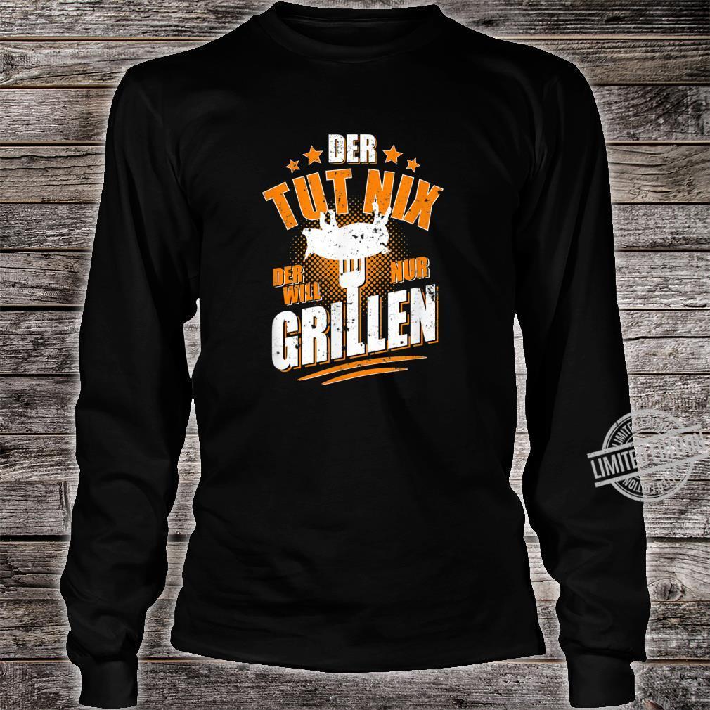 Herren Der tut nix der will nur Grillen Grillmeister BBQ Shirt long sleeved