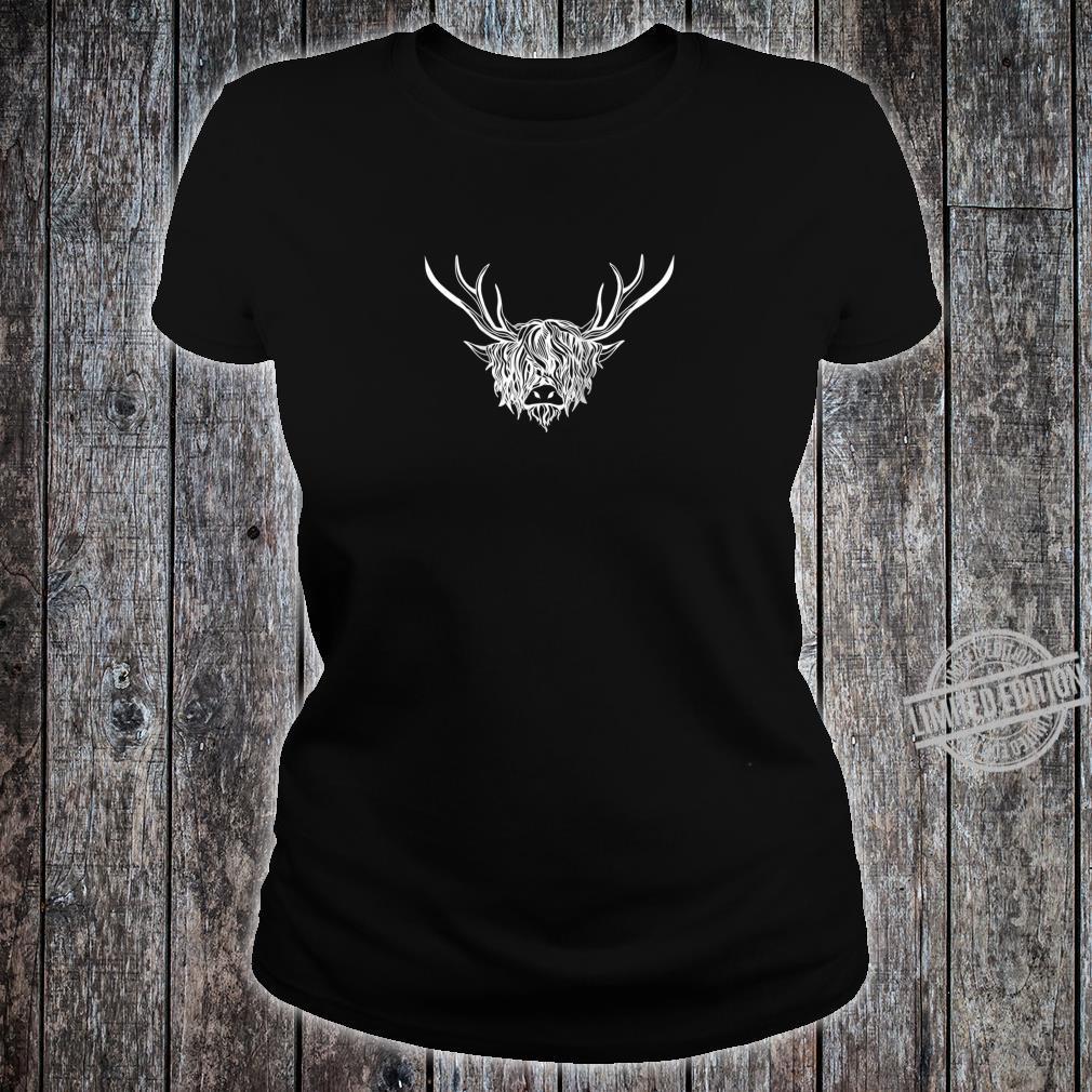 Highland Cattle Farmer Hairy Cow County Fair Shirt ladies tee
