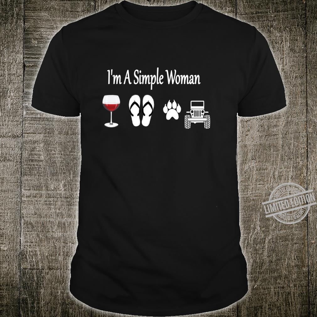 I'm A Simple Wine Flip Flop Dog And Car Shirt