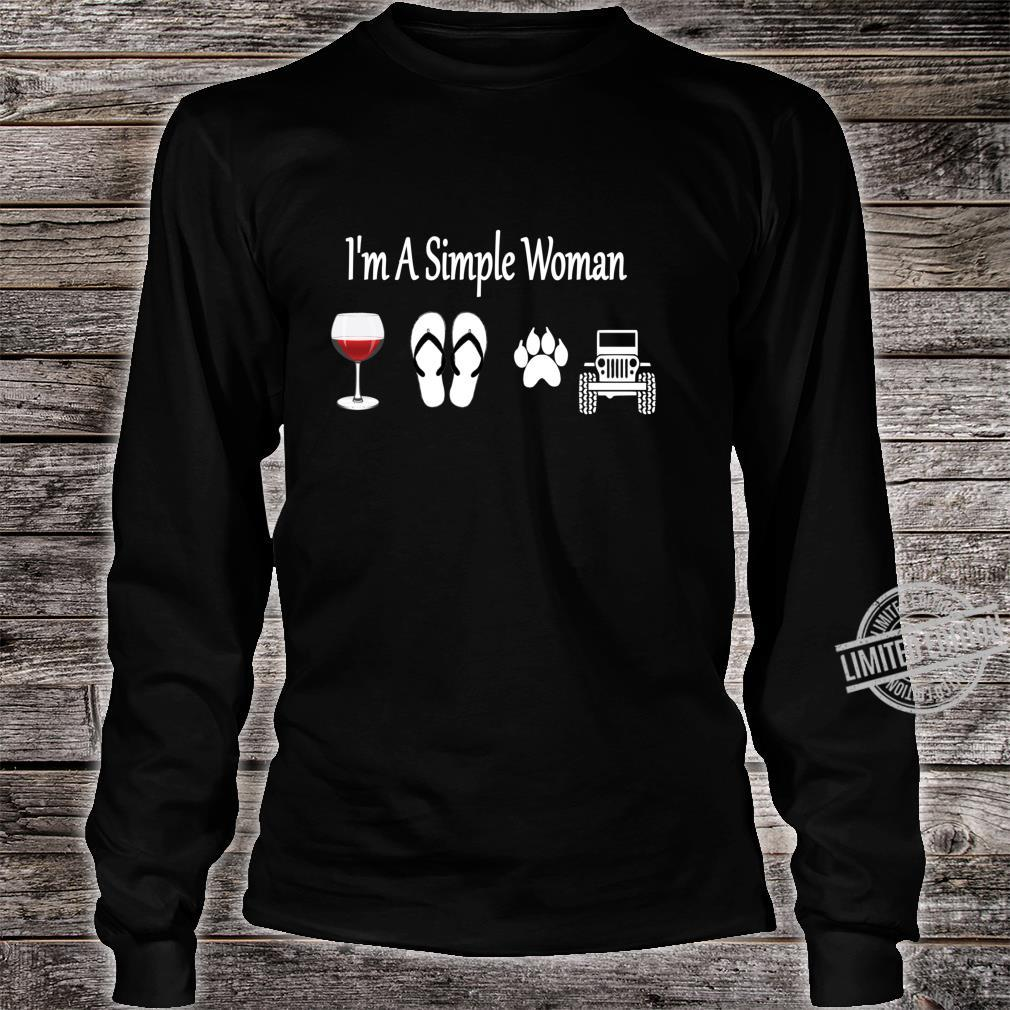 I'm A Simple Wine Flip Flop Dog And Car Shirt long sleeved