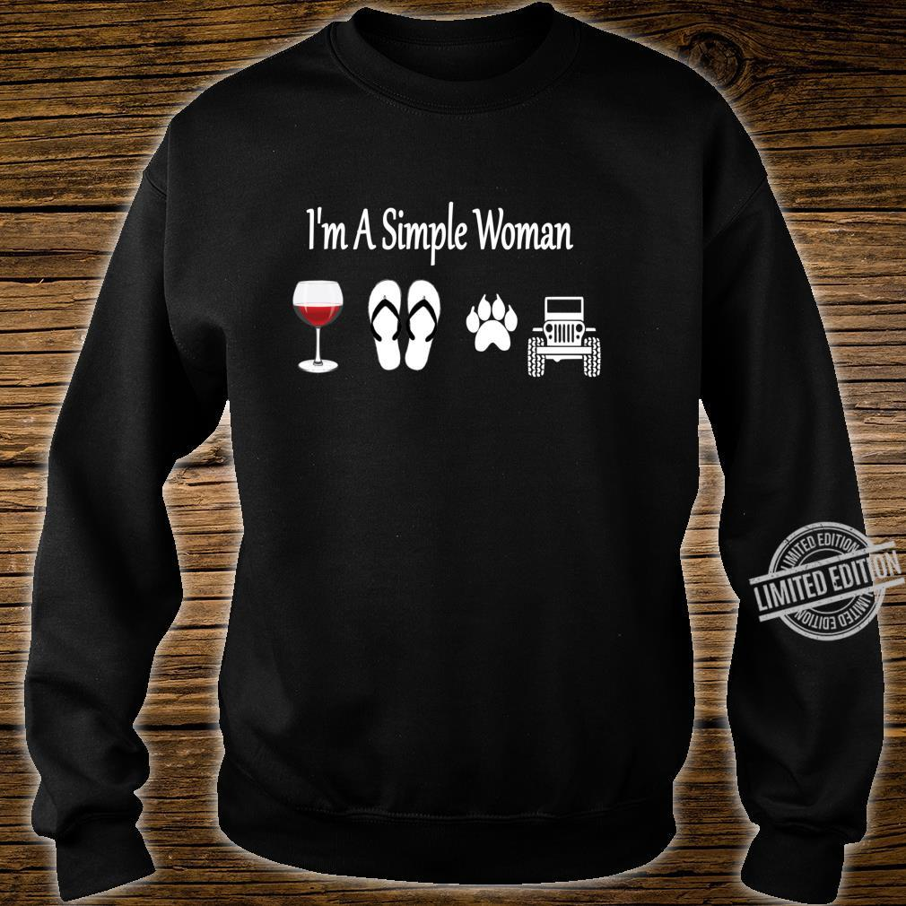 I'm A Simple Wine Flip Flop Dog And Car Shirt sweater