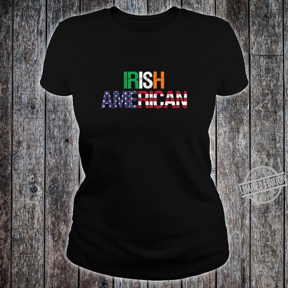 Irish American St. Patrick's Day Shirt ladies tee