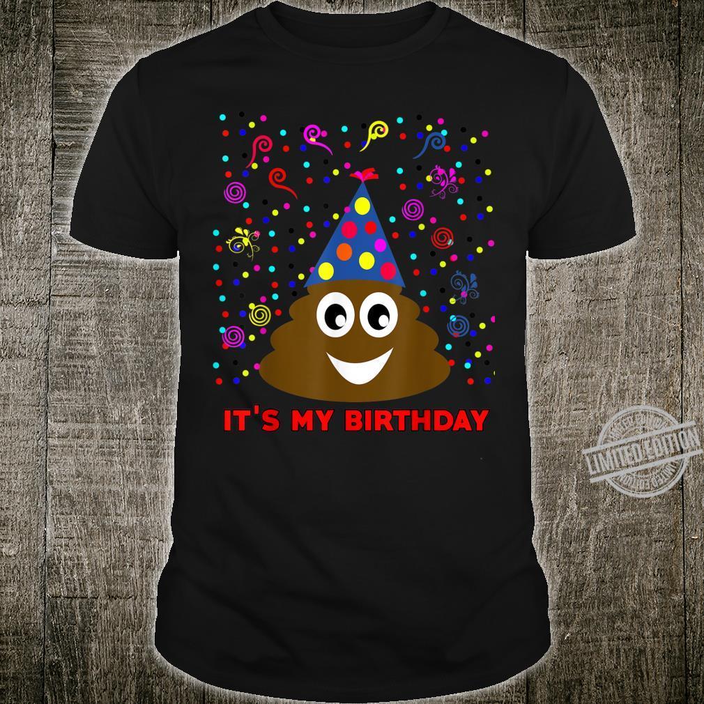 It's My Birthday Poop Emoji Party Celebration For Girls Boys Shirt