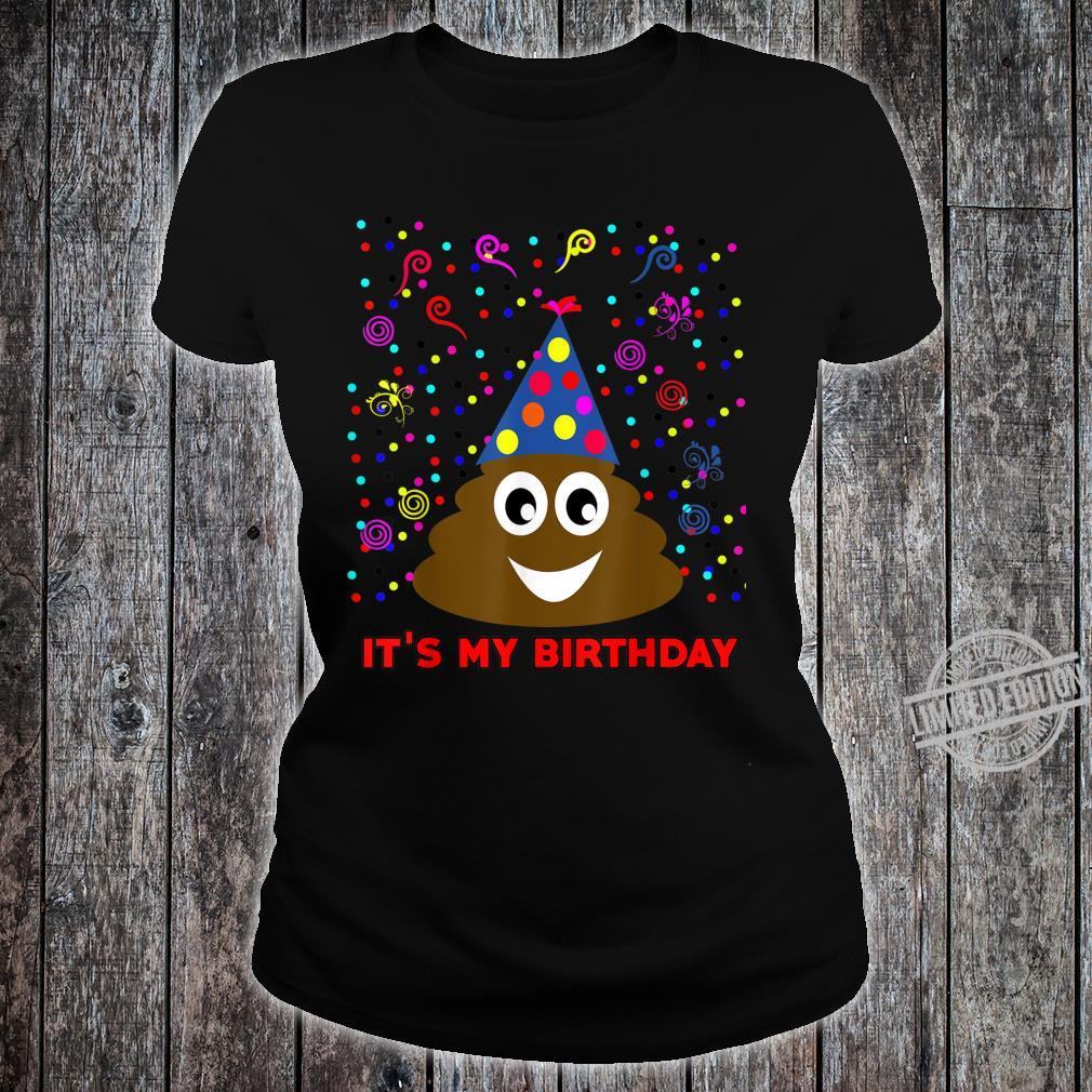 It's My Birthday Poop Emoji Party Celebration For Girls Boys Shirt ladies tee