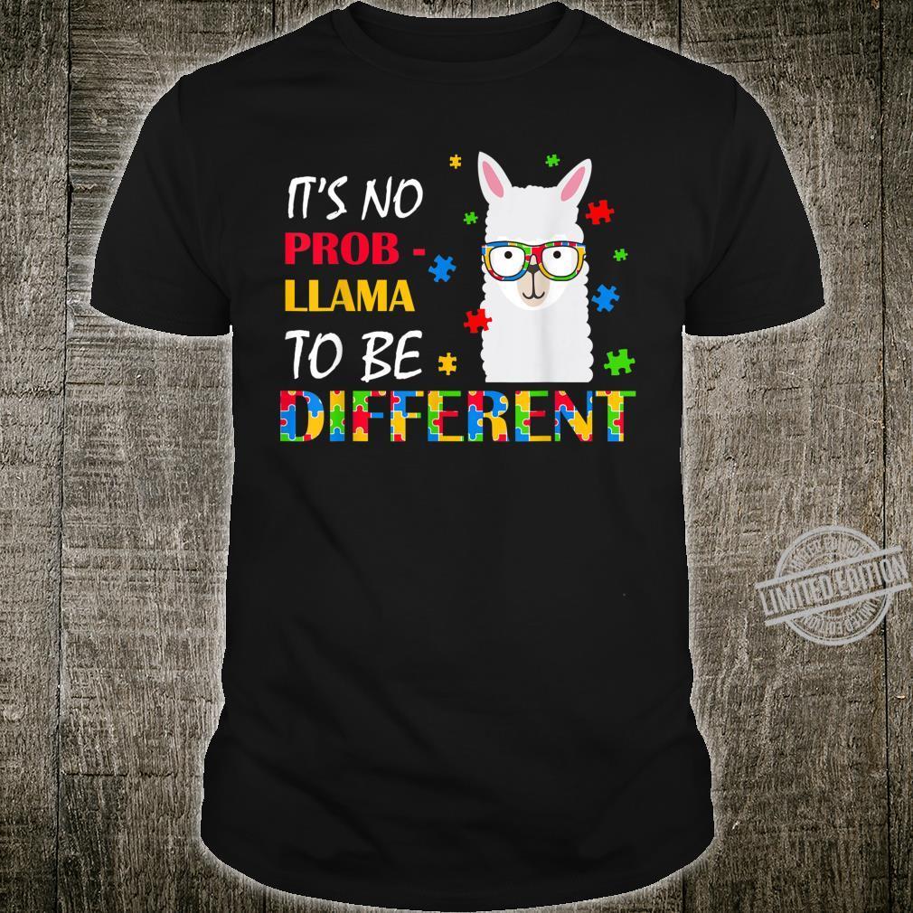 It's No Prob Llama To Be Different Shirt Autism Awareness Shirt