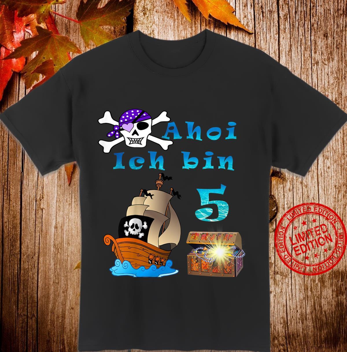 Kinder 5.Geburtstag Jungen Pirat Shirt