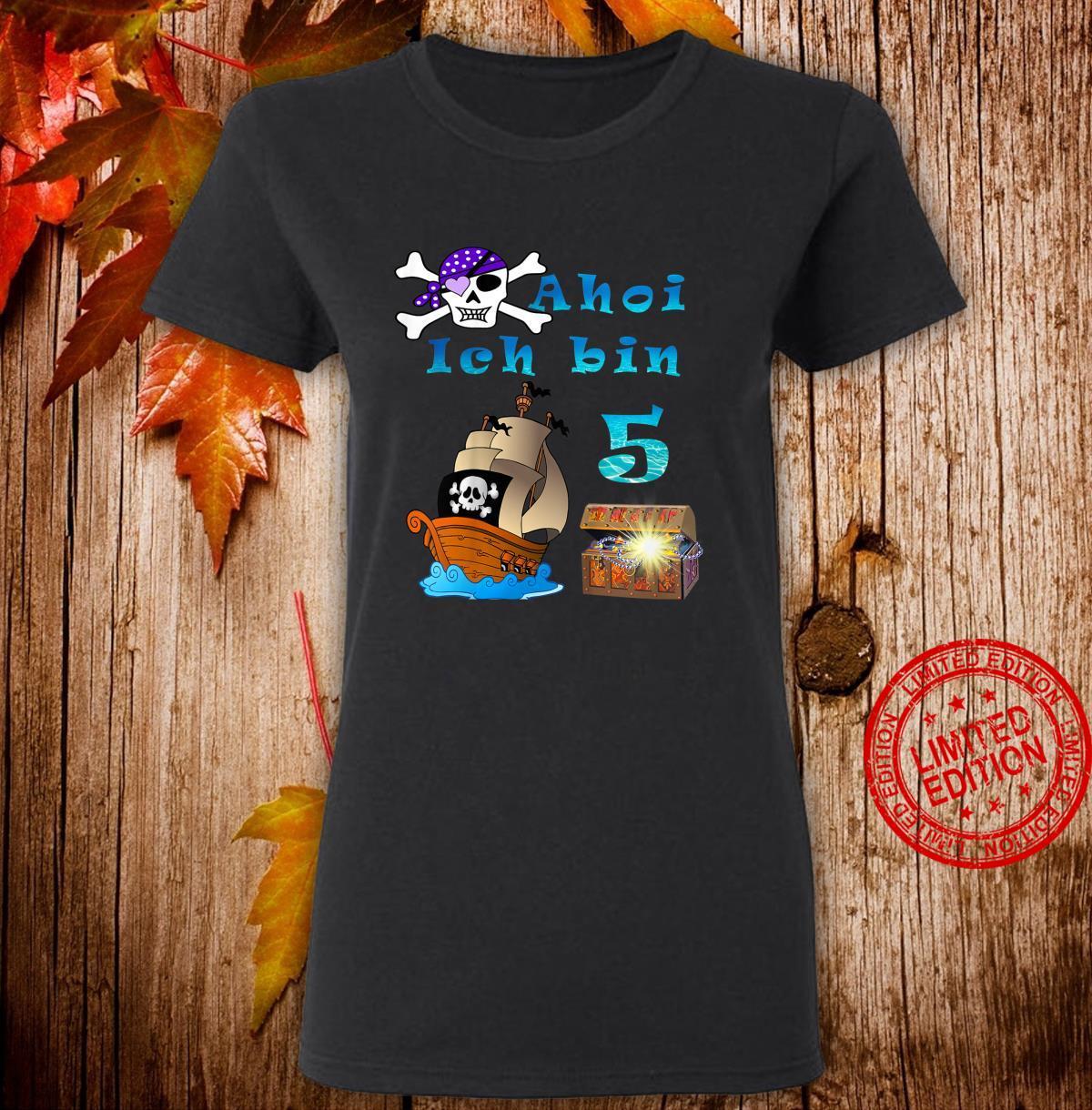 Kinder 5.Geburtstag Jungen Pirat Shirt ladies tee